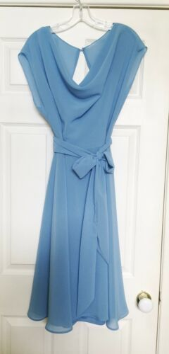 After Six Bridesmaid Dress Style 6661 Sz 14 Windsor Blue Dessy Collection Lined