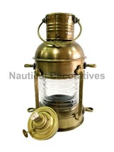 Nautical Antique Ship Lamp Boat Oil Lantern Maritime Collectible Decorative - $58.91