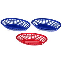 4TH OF JULY* 3pc Set SNACK BASKETS Holder/Boat RED+BLUE Serving Tray PLA... - £3.00 GBP