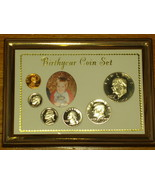 """5"""" X 7"""" """"Birth Year Coin Set"""" - PICTURE FRAME  - €10,44 EUR"""