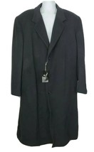 Di Silver Wool Cashmere Blend Men's Overcoat Topcoat Size 54R Charcoal Gray - $227.69