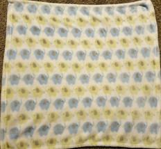 Baby Essentials Elephant Baby Blanket Blue Green White Soft - $19.78