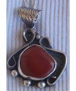 Blood stone silver pendant MT11 - $55.00