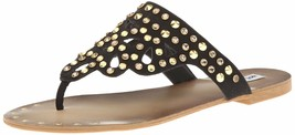 Not Rated Make it Rain Studded Crystals Summer Thong Sandals Beach Slippers NIB image 1