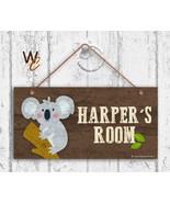 Koala Sign, Woodland Personalized Sign, Kid's Name, Kids Door Sign, 5x10... - $16.29