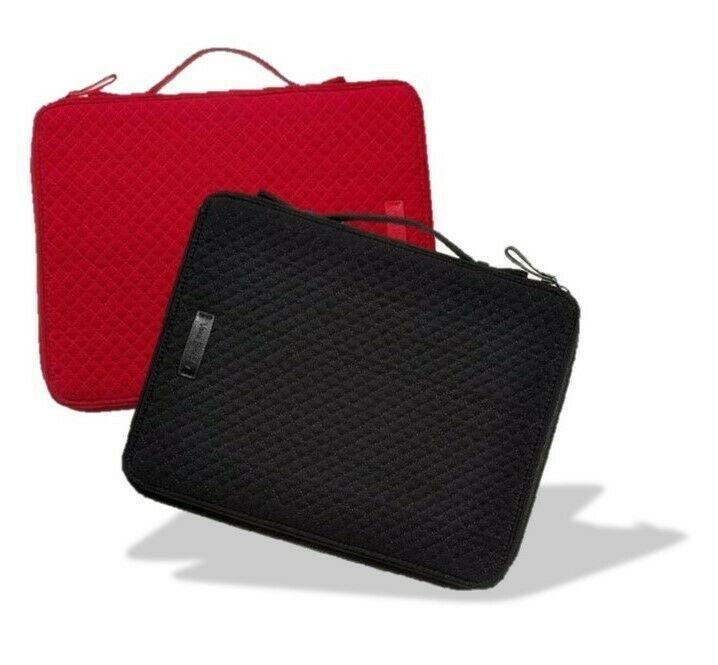 Vera Bradley Classic Black - Cardinal Red Tablet Tamer Organizer Case Microfiber
