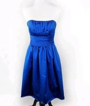 Women's Bridesmaid, Horizon Blue Cocktail Strapless Dress Size 4 David's Bridal - $13.47