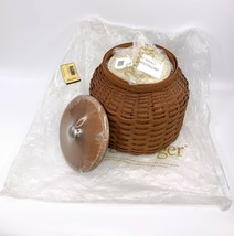 NEW! 2006 Longaberger Cookie Jar Basket with Insert, Lid and Wooden Lid - $267.29