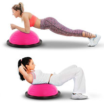 """21"""" Balance Trainer Stability Ball Pilates Yoga Core Resistance Bands Pink - £45.91 GBP"""
