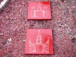 Whimsical Castle Stepping Stone Mold #1 Use Concrete Make 18x18 Stones For $2 Ea image 5