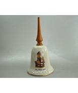 M J Hummel Wayside Harmony Porcelain Bell Goebel Wood Handle - $5.99