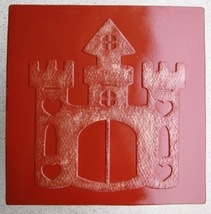 Whimsical Castle Stepping Stone Mold #1 Use Concrete Make 18x18 Stones For $2 Ea image 4