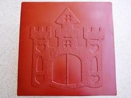 Whimsical Castle Stepping Stone Mold #1 Use Concrete Make 18x18 Stones For $2 Ea image 3