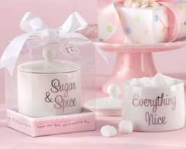 """Sugar, Spice and Everything Nice"" Ceramic Sugar Bowl Set of 12 - $60.54"