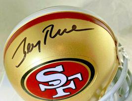 JERRY RICE / NFL H.O.F / AUTOGRAPHED SAN FRANCISCO 49ERS MINI HELMET / RICE HOLO image 2