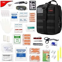 I GO Survival First Aid Kit, 251 Pieces Compact Tactical Trauma First Ai... - $52.00