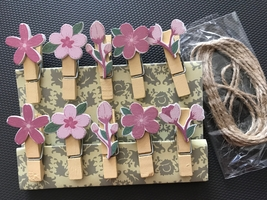 10pcs Birthday Party Gift Favors,Clips,Paper Clips,Wooden Clothespin,Dec... - $1.00