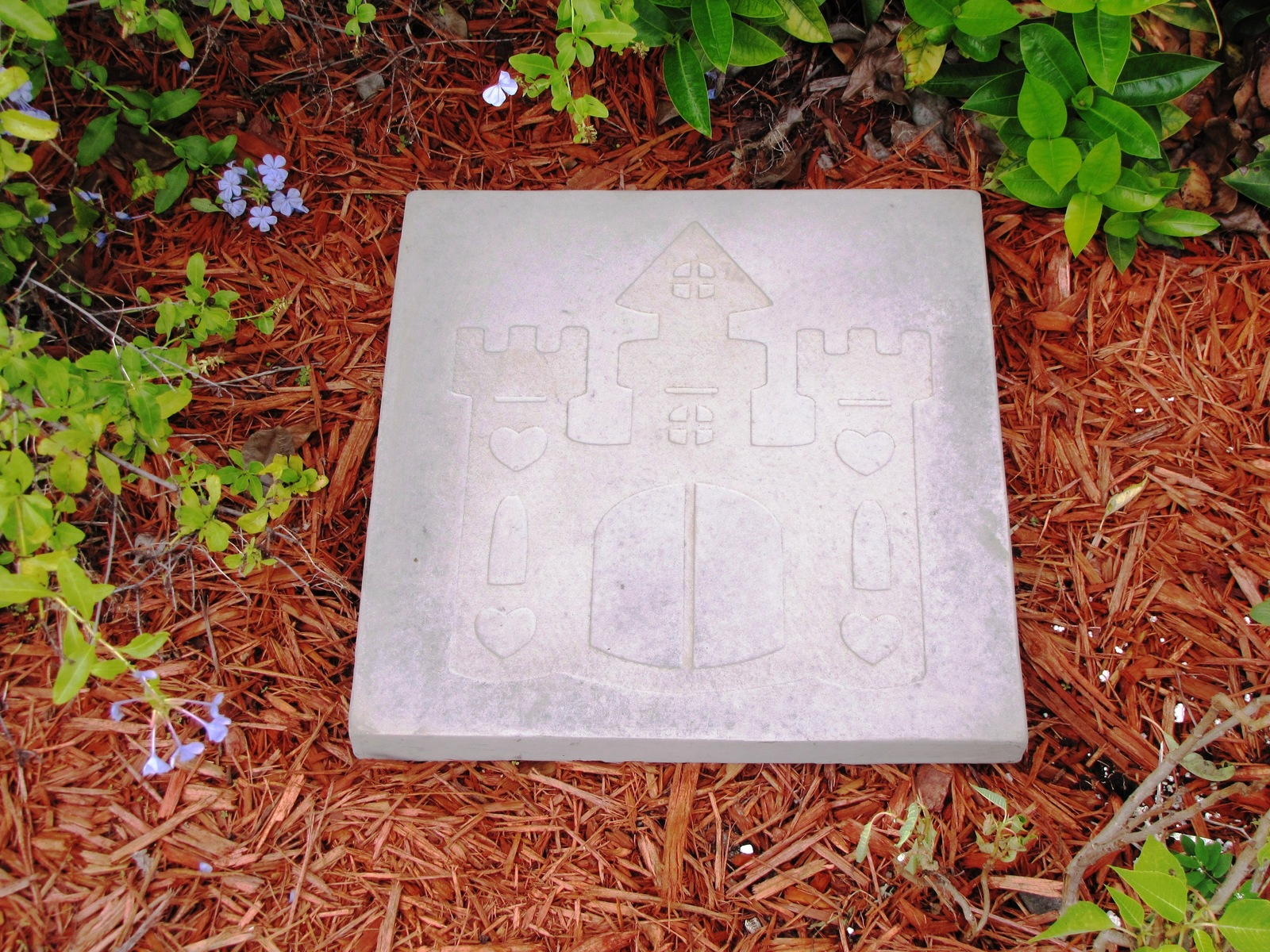 Whimsical Castle Stepping Stone Mold #1 Use Concrete Make 18x18 Stones For $2 Ea