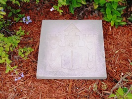 Whimsical Castle Stepping Stone Mold #1 Use Concrete Make 18x18 Stones For $2 Ea image 2