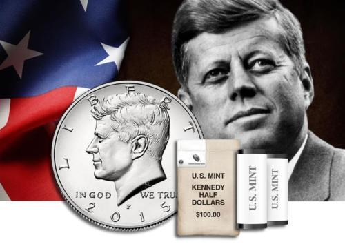 1 - Each 2015 P & D Kennedy Half Dollar Uncirculated 2 coin set from the Us Mint