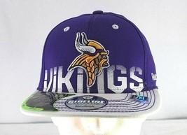 Minnesota Vikings Purple/White Baseball Cap Stretch Fit L- XL - $24.99