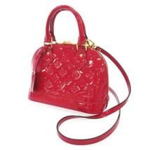 LOUIS VUITTON Alma BB Vernis Rose Indian M91771 Handbag 2Way Shoulder Ba... - $1,135.45