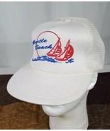 Myrtle Beach Snapback Trucker Hat Cap White Mesh South Carolina Resort Golf - $17.59
