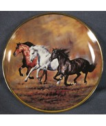 Brothers Of The Wind Collector Plate Wild At Heart Lesley Harrison Horses  - $17.95