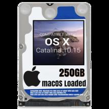 macOS Mac OS X 10.15 Catalina Preloaded on 250GB Sata HDD - $24.99