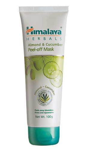 Himalaya Almond & Cucumber Peel-Off Mask 100g removes blemishes retail 14.99$