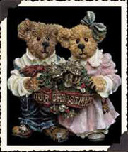 "Boyds Bears ""Grenville & Beatrice""  Bearstone Ornament* #25722* New*1999... - $12.99"