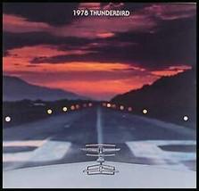 1978 Ford T-bird Thunderbird ORIGINAL Brochure Xlnt - $6.54