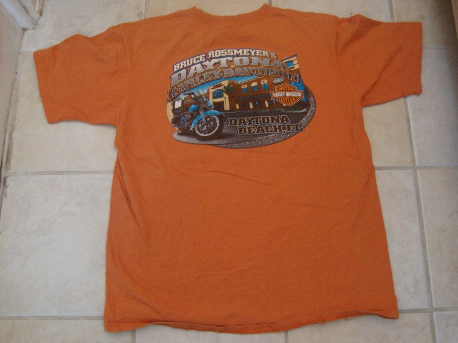 Harley-Davidson Motorcycles Daytona Beach, Florida t shirt Size XL  image 2