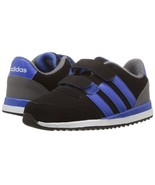 adidas NEO Toddlers V Jog CMF Sneaker Black/Blue/Grey Four BC0086 - $38.09