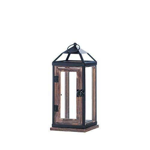 Wooden Trim Contemporary Candle Lantern