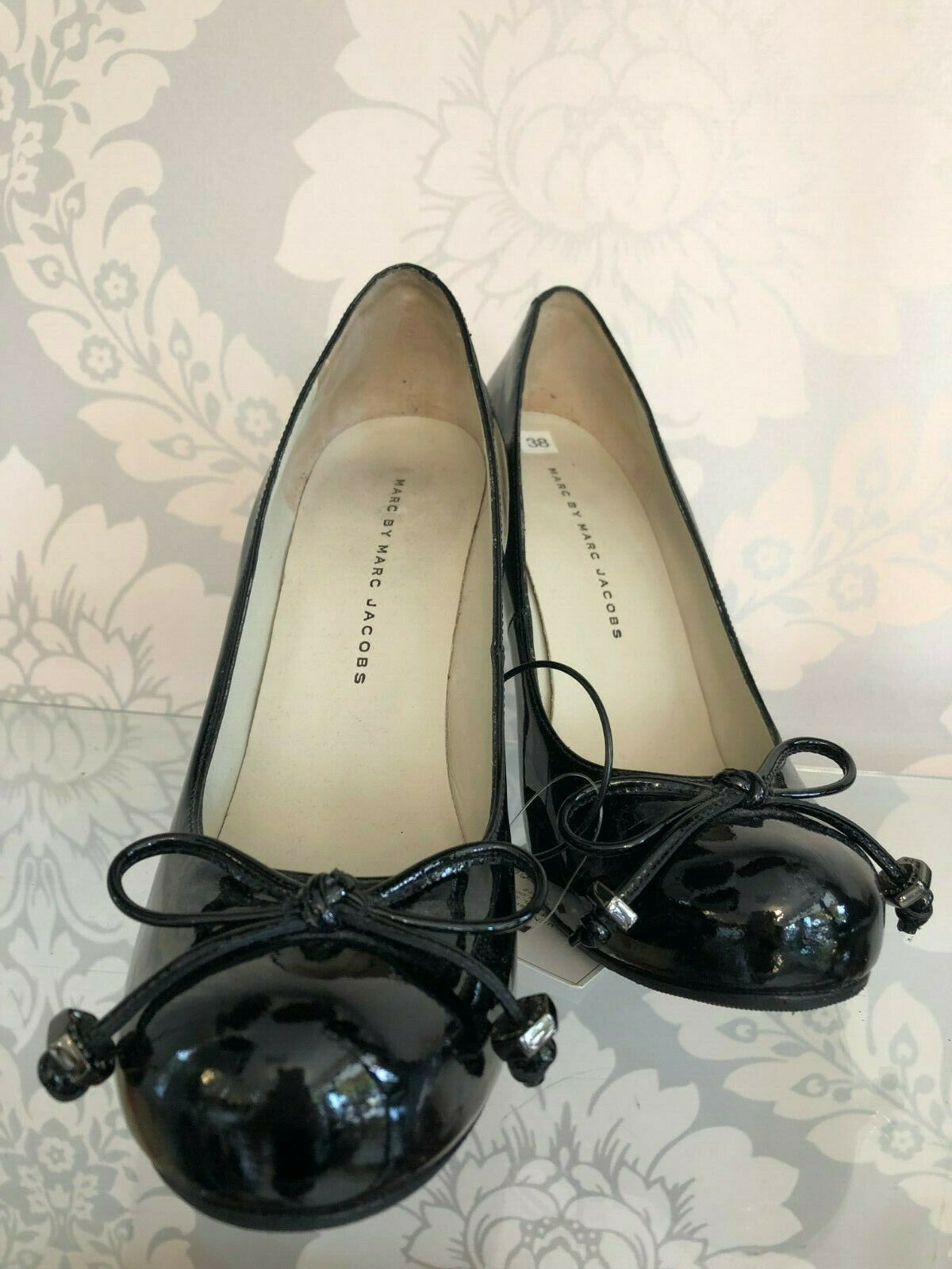 Primary image for MARC BY MARC JACOBS Black Patent Leather Pumps/Heels Sz 38/US 8 $275