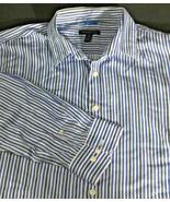 Men's Long Sleeve Casual Dress Shirt Size XL 17 17.5 Blue Black White Va... - $12.86