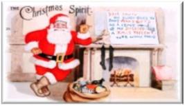 THE CHRISTMAS SPIRIT Santa Refrigerator Magnet - $1.99+