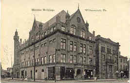 Masonic Block Williamsport Pennsylvania 1911 Post Card - $6.00