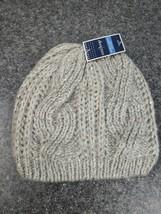 West Loop Womens Sequin Knit Hat Winter Bennie Gray Silver W/ Purple. NEW - $8.79