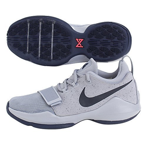 Nike Kid's PG 1 GS, GLACIER GREY/MIDNIGHT NAVY, Youth Size 6.5