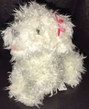 "2007 FurReal Friends Plush Poodle Teacup Pups 7"" White w/Pink Bow 77480 ... - $19.80"