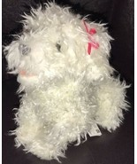 """2007 FurReal Friends Plush Poodle Teacup Pups 7"""" White w/Pink Bow 77480 ... - $19.80"""