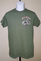 Sturgis Black Hills Rally Motorcycles T-Shirt Green Small NWT 75th Anniversary  - $15.00