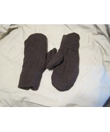 Handmade Recycled Wool Fleece Lined Mittens Brown Ladies/Teens Size M/L - $14.85