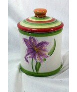 Dansk 2004 Tropical Swirls Small Canister And Lid - $9.44