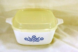 Corning Ware Cornflower Blue 1 3/4 Cup P-41-B Petite Pan With Plastic Lid - $6.92