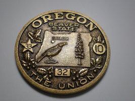 Vintage Oregon Souvenir Bronze Medallion medal - $19.95