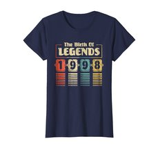 Funny Shirts - Retro The Birth Of Legend 1998 20th Birthday Gift 20 yrs old Wowe image 4