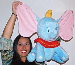 "Disney Baby DUMBO LARGE 18"" ELEPHANT Plush Blue Eyes STUFFED TOY LOVEY C... - $32.15"